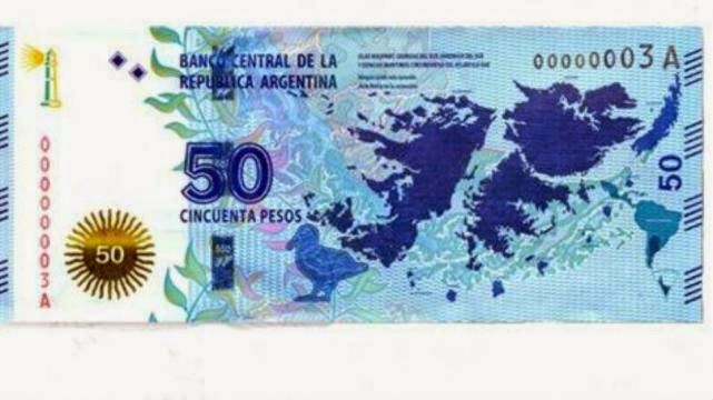 billete 50 pesos islas malvinas
