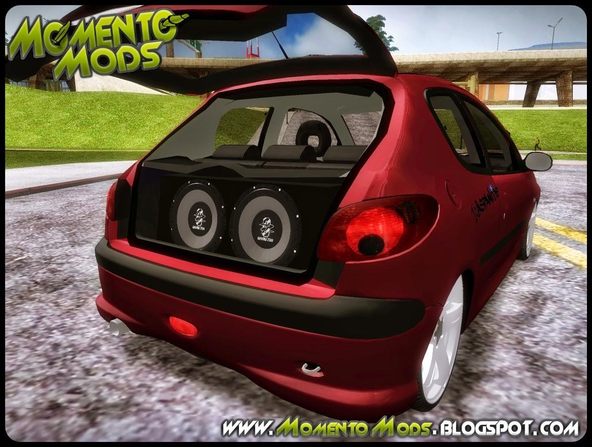 """GTA SA - Peugeot 206 Com Rodas 18"""" Do Audi Q5"""