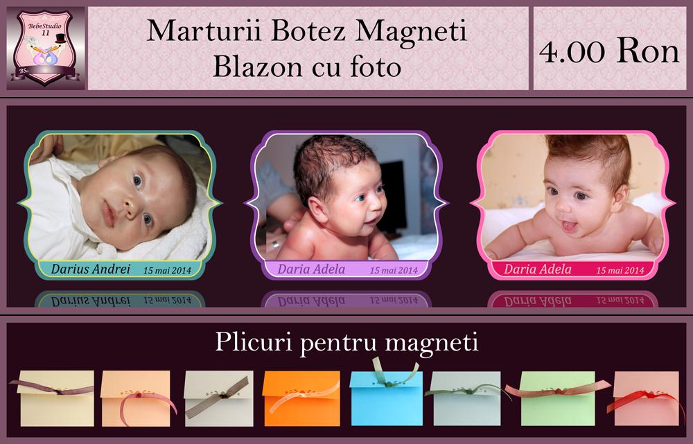 marturii botez magneti blazon