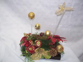 Centro de mesa navide o aprender manualidades es - Centros de mesa navidenos caseros ...