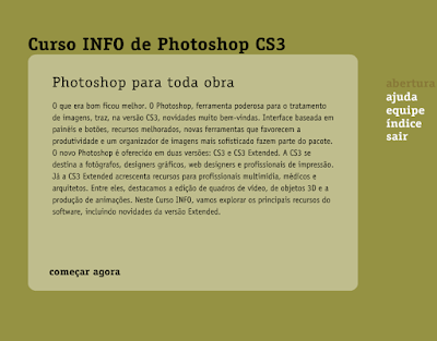 CURSO INFO - FIQUE FERA NO PHOTOSHOP CS3