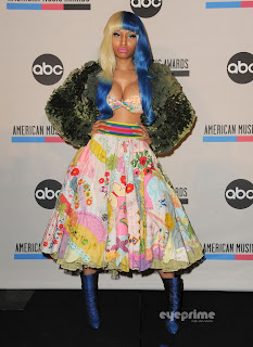 Nicki Minaj cleavage 2011 AMA Nominees Press Conference in Los Angeles