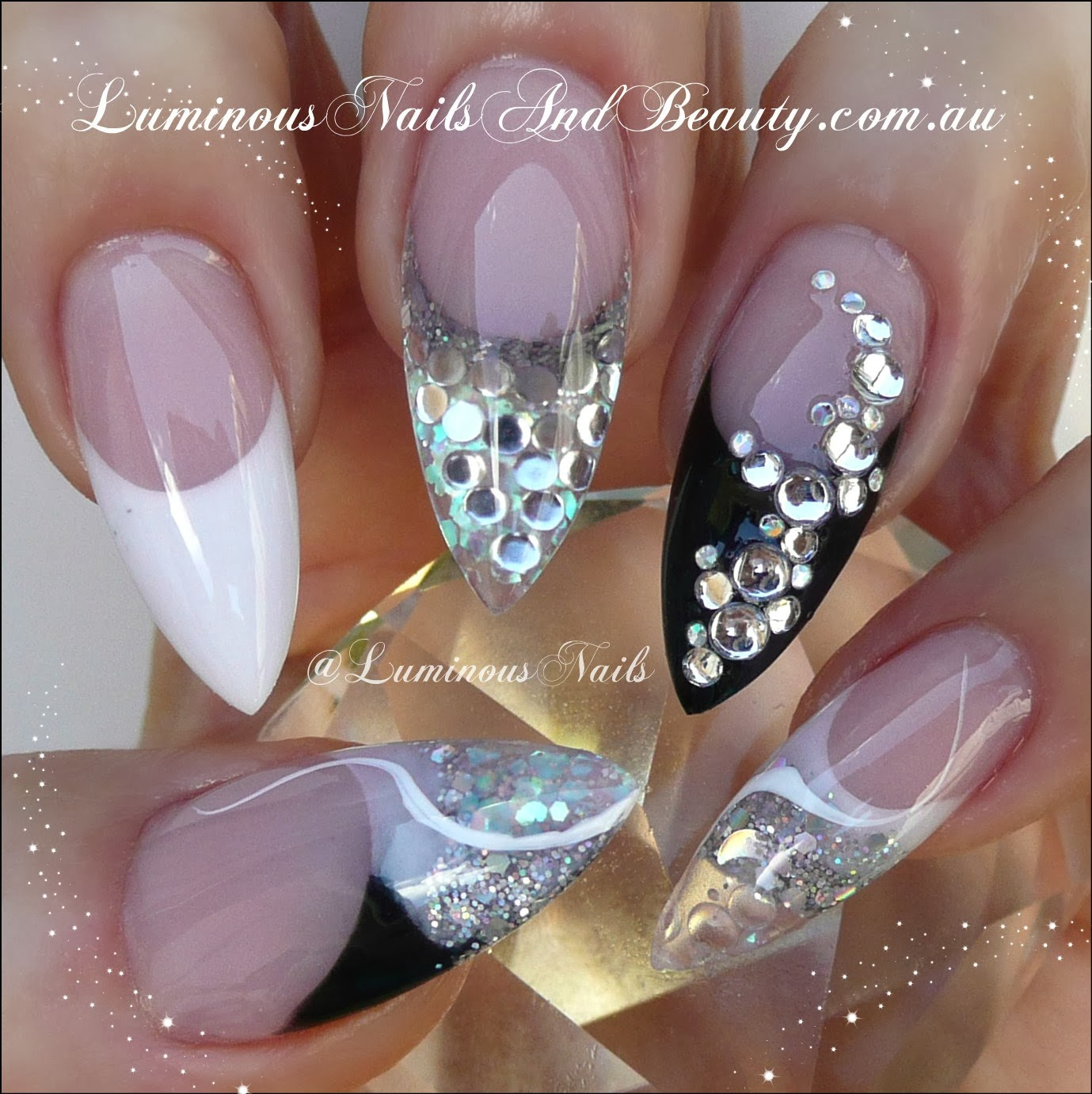 Nail designs for black nails black nail art gallery nails magazine prinsesfo Gallery