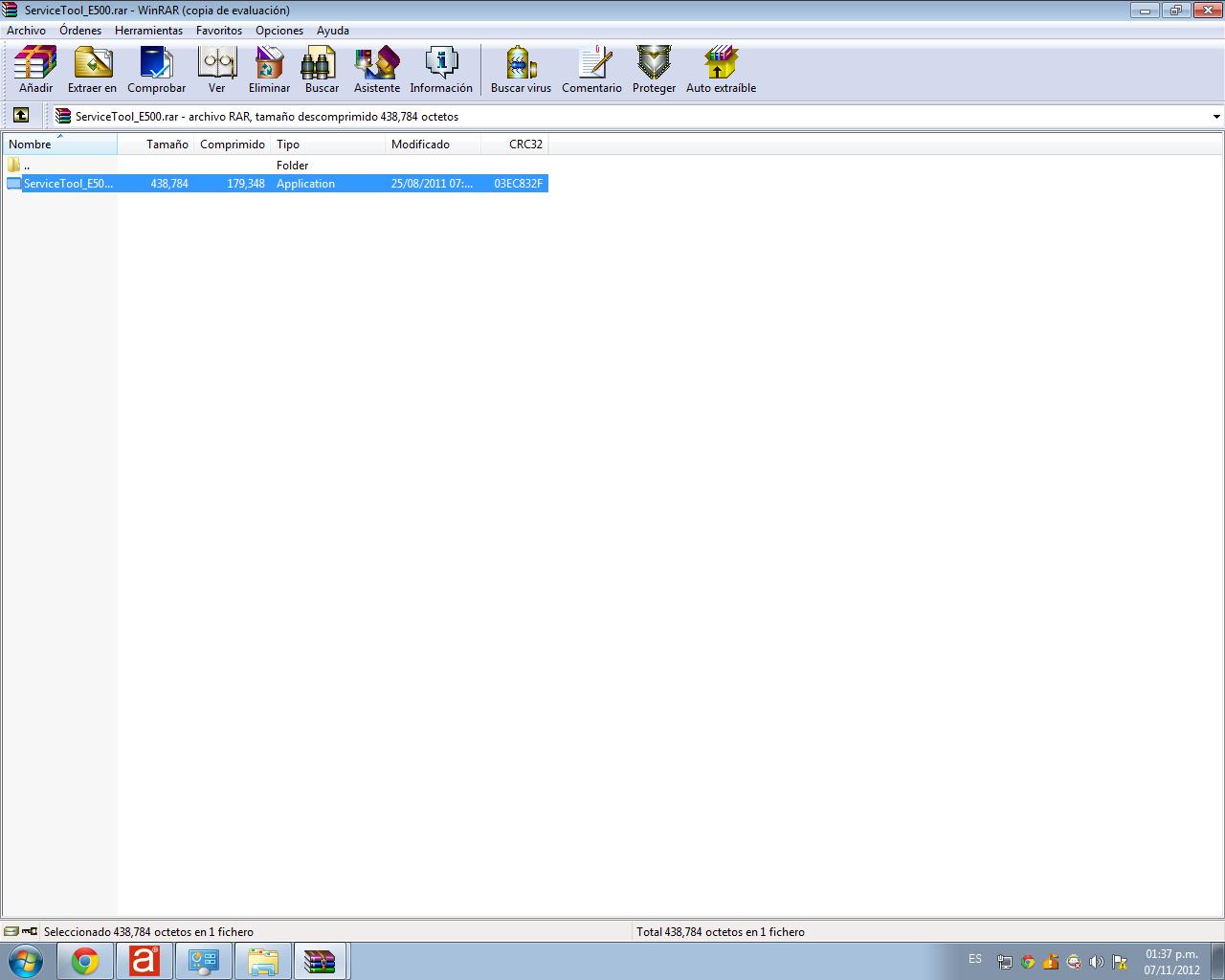 unzip the downloaded program complete
