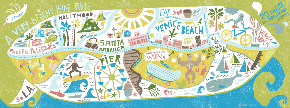 I Draw Maps Venice Beach Bike Map For They Draw Travel - Venice beach map
