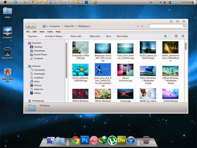 Windows 7 Ultimate SP1 Mac Osx Edition 2014