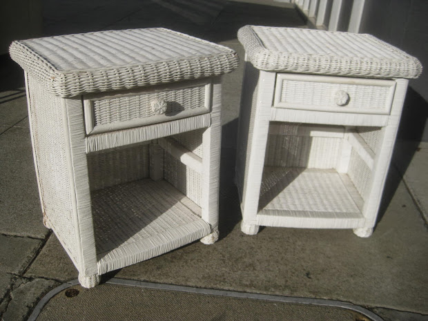 UHURU FURNITURE & COLLECTIBLES: SOLD - Wicker Night Stands - $50