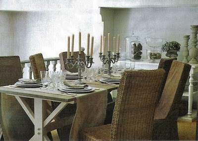 Dining Room image via Côté Sud Fev-Mar 2005 edited by lb for linenandlavender.net
