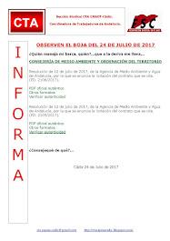 OBSERVEN EL BOJA DEL 24 DE JULIO DE 2017