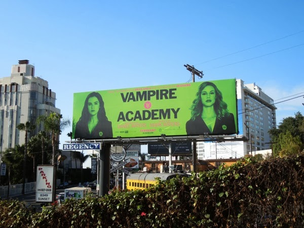 Vampire Academy movie billboard Sunset Strip
