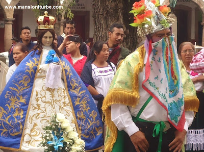 Our Lady of Health of Patzcuaro and the Moors of Tejaro at Plaza Vasco de Quiroga