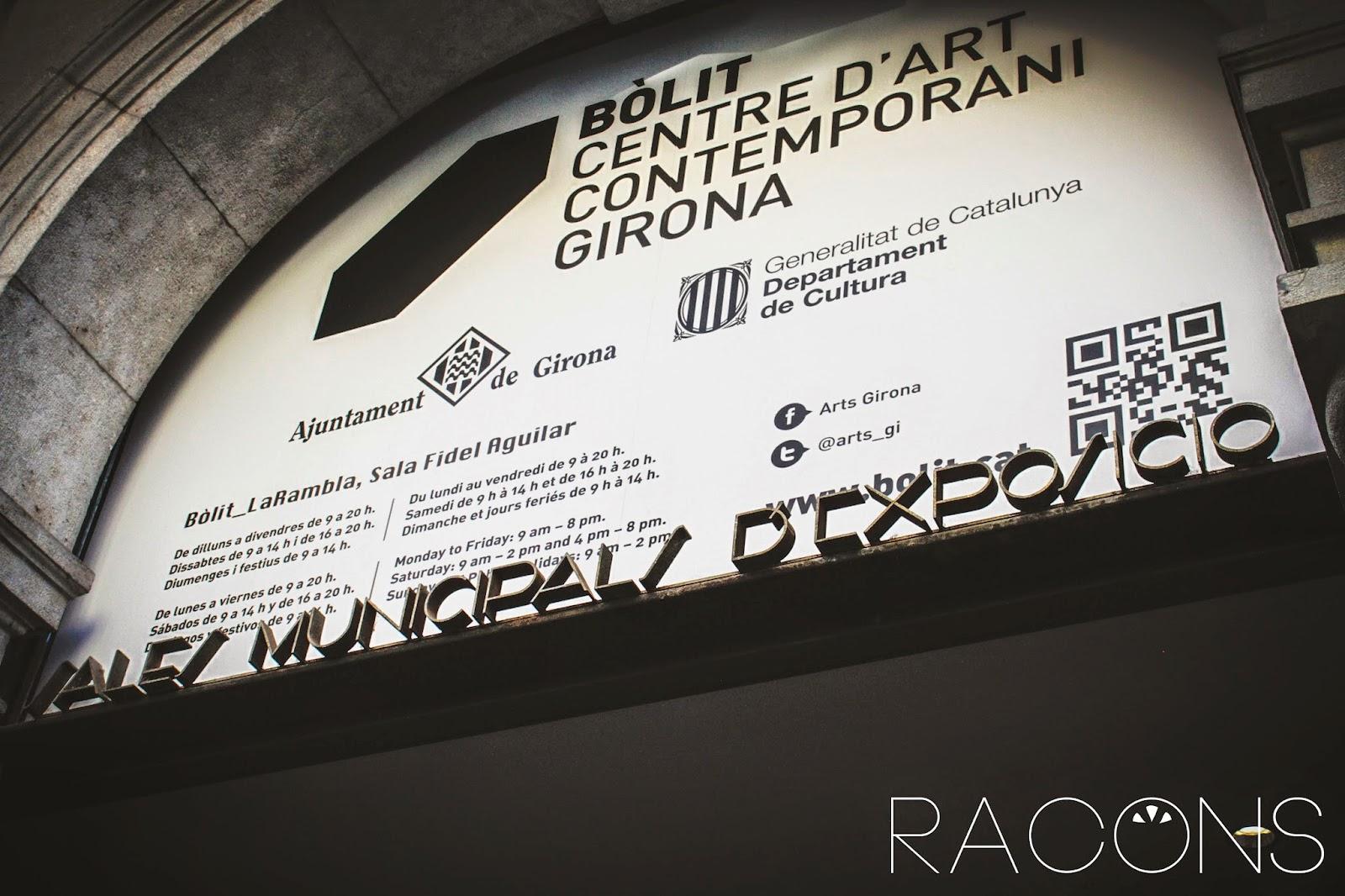 Entrada a el Bòlit Centre d'Art Contemporani de Girona