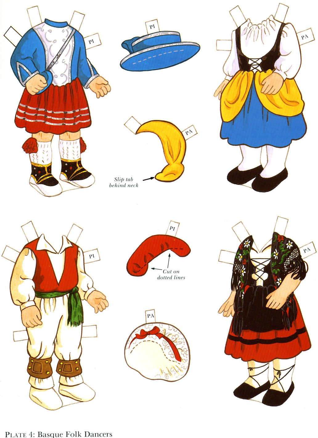 The paper dolls of laura paulette y pierre para vestir for Tipico de francia