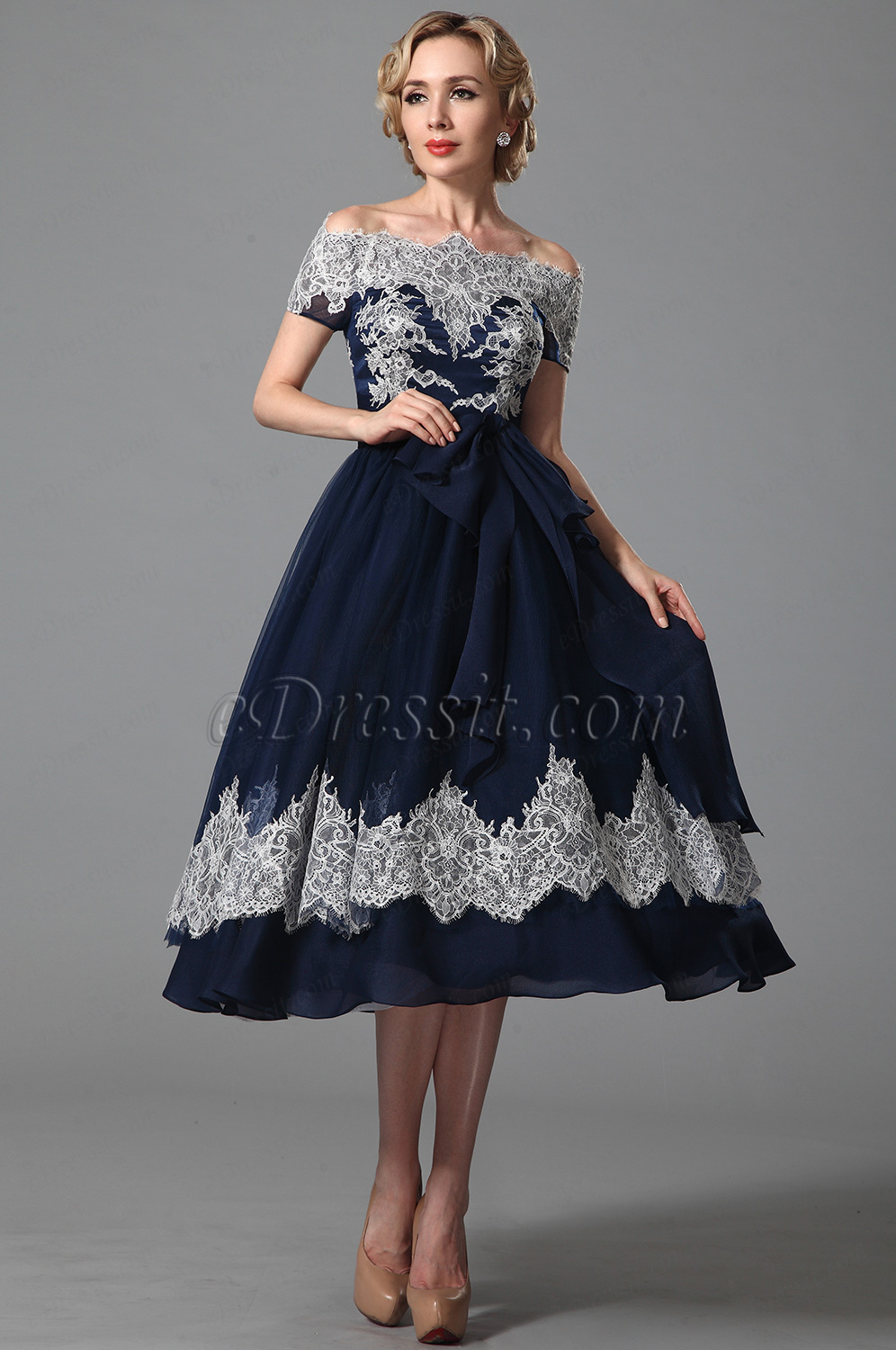 Cheap graduation dresses fashion collection wear it for your graduation or homecoming complete your look with some matching accessories edressit vintage off shoulder navy blue cocktail dress ombrellifo Image collections