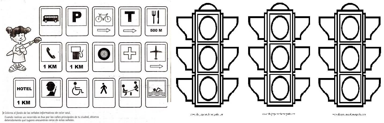 Único Señales De Seguridad Para Colorear Ideas - Dibujos Para ...