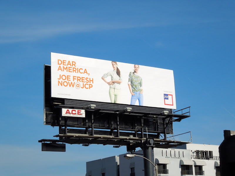Dear America Joe Fresh JCP billboard