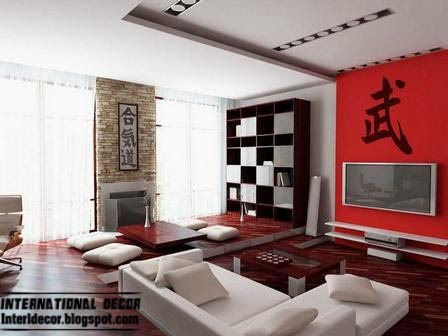 modern Japanese interior design with false ceiling