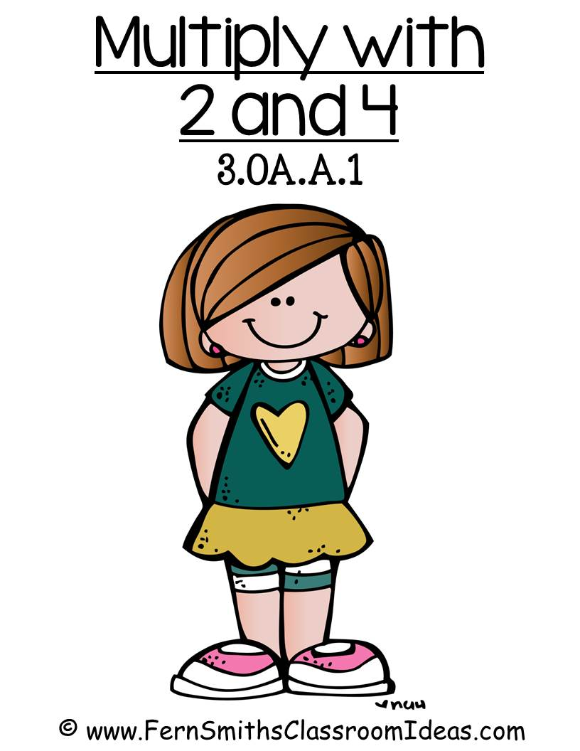 Fern Smith's Classroom Ideas Multiply with 2 and 4 - Quick and Easy Center and Printables 3.OA.A.1