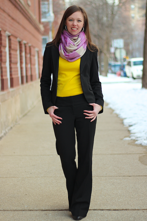 Black Suiting with Yellow & Lilac | StyleSidebar