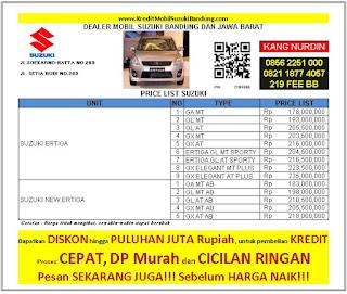 Kredit Suzuki Ertiga Bandung 2016, Harga Ertiga 2016, Harga Mobil Ertiga 2016