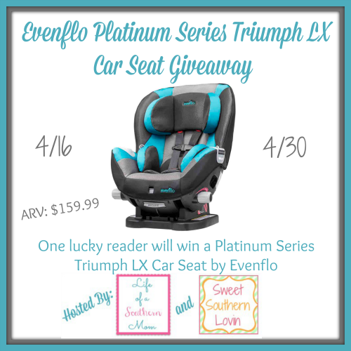 Evenflo Platinum Series Triumph LX Car Seat Giveaway ~ Ends 4/30