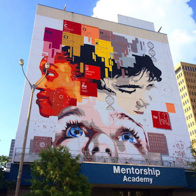 Eduardo Mendieta And Two Other Recognized South Florida Urban Artists  Recently Completed A Spray Paint Mural In Downtown Baton Rouge.