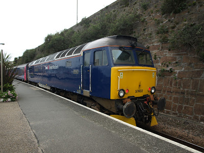 Class 57 - 57602 - Restormel Castle waiting to leave Penzance 17/6/2012