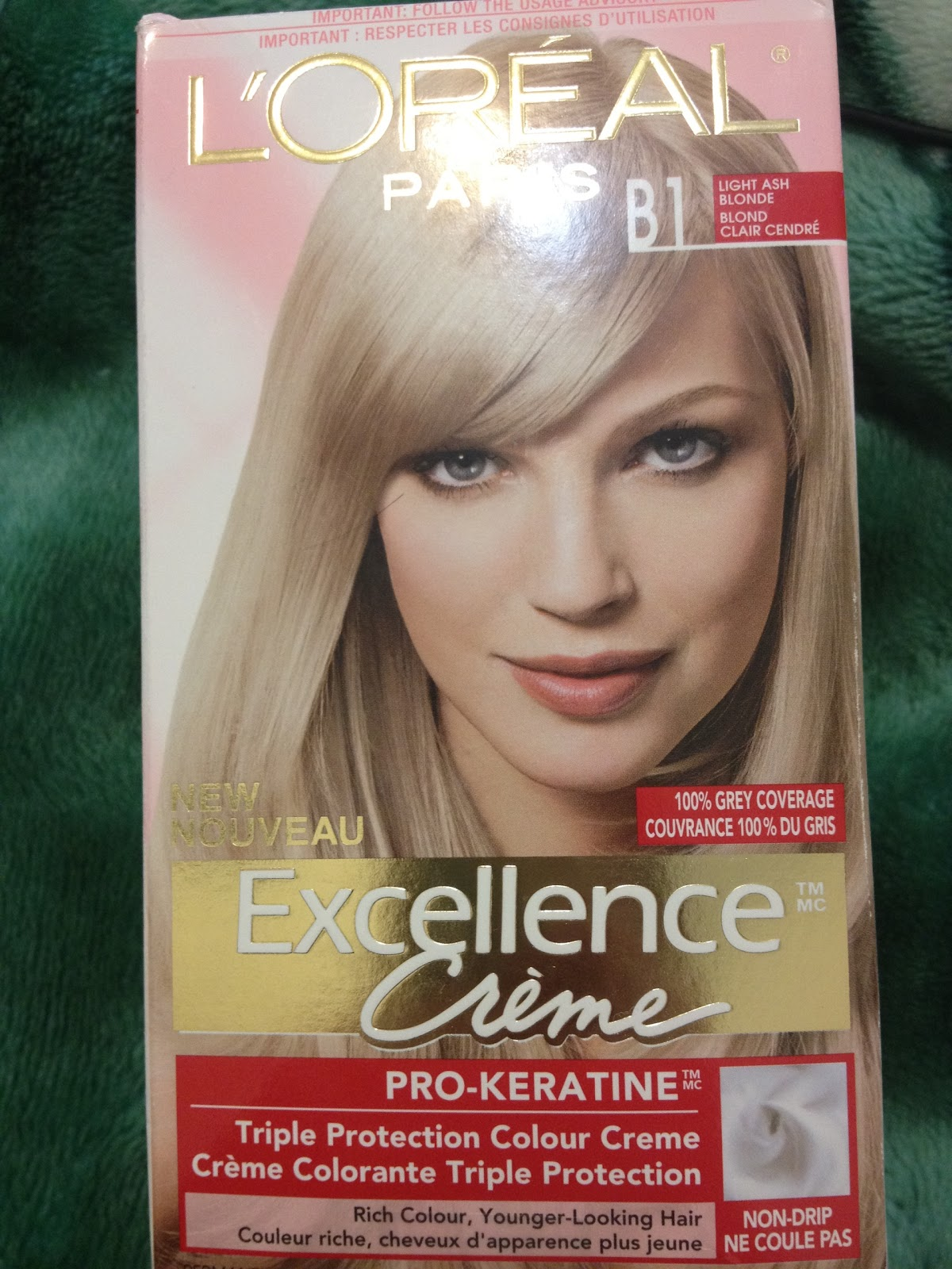 How I Dye My Hair Blonde Using L'Oreal Excellence B1 Light Ash Blonde