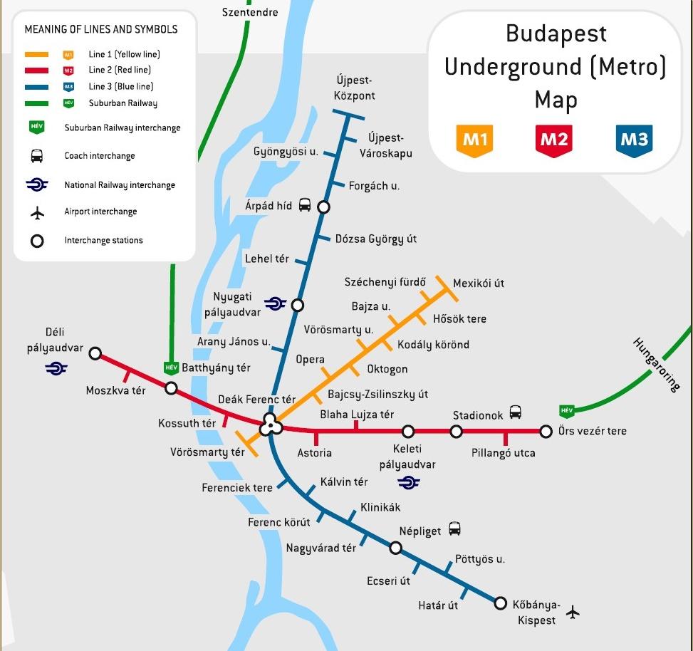 Budapest lentokentältä keskustaan 2018