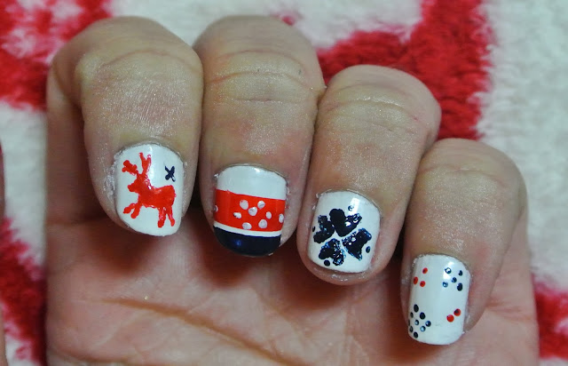 christmas fairisle nails