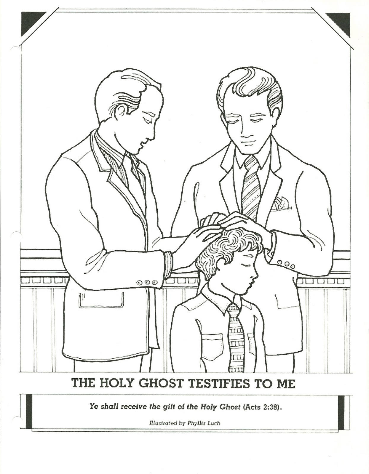 Happy Clean Living Primary 2 Lesson 13 Holy Ghost Coloring Page