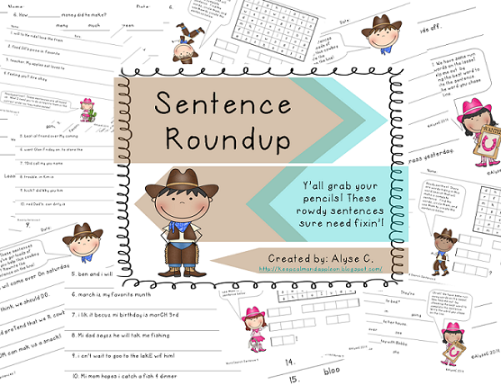 http://www.teacherspayteachers.com/Product/Sentence-Roundup-1144450