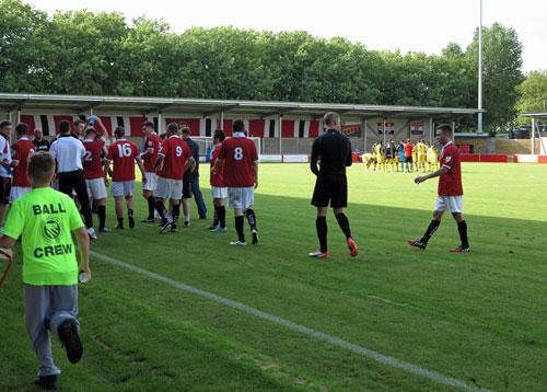 FC United of Manchester v Brackley Town.