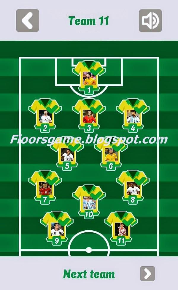 World Football Quiz 2014 Team 10 11 12 Walkthrough