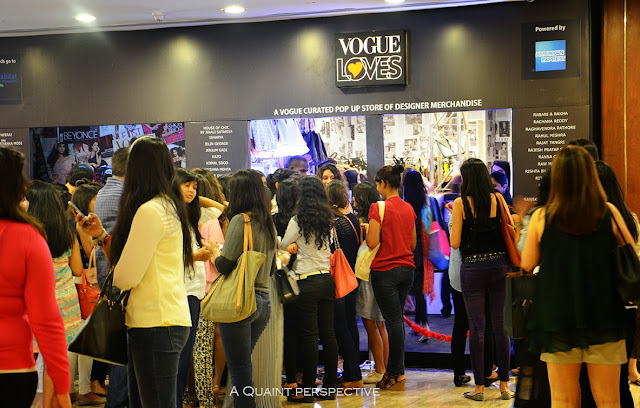 The Frenzy outside the vogue's Pop up Store