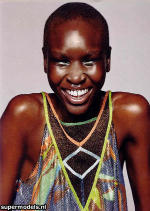 alek wek Natural Hair Beauty