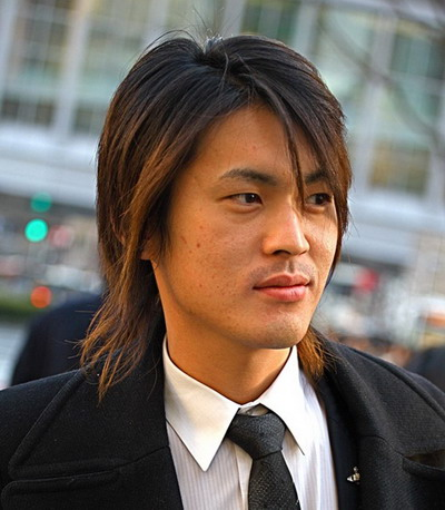 Long Hairstyles Men 2013 with Bangs