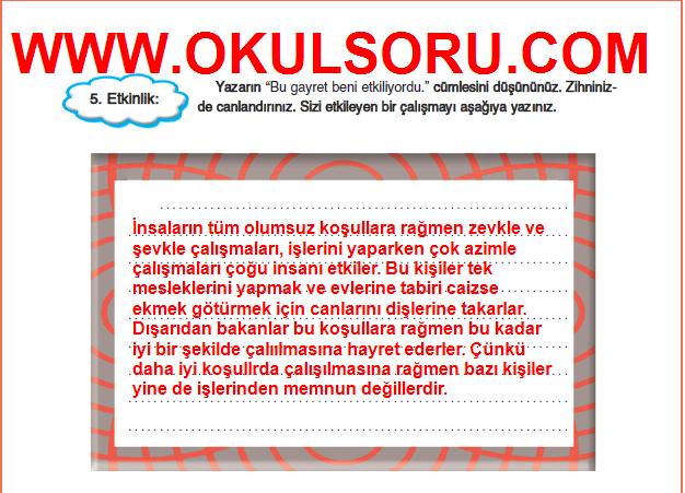 5.Sınıf FCM Yayınları Türkçe Çalışma Kitabı 145.Sayfa Cevapları