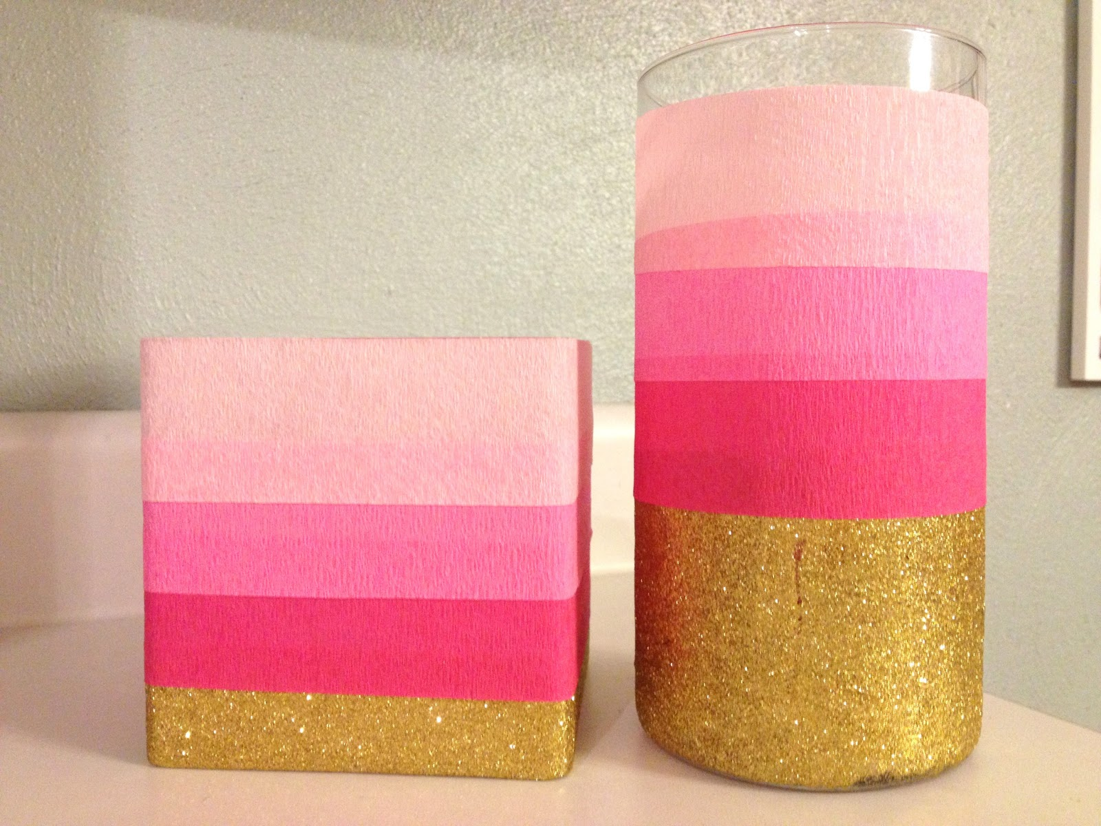 First comes love pinned this made that pink ombre glitter vase pinned this made that pink ombre glitter vase reviewsmspy