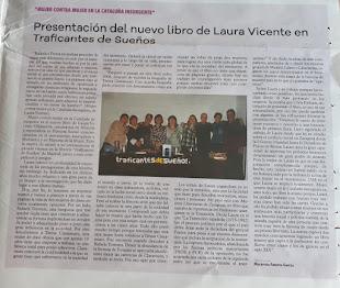 Sobre la presentación del libro en Madrid