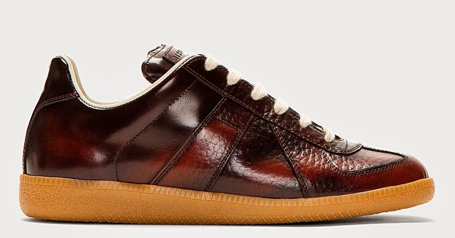 Blessed burgundy maison martin margiela maroon leather for Replica maison martin margiela