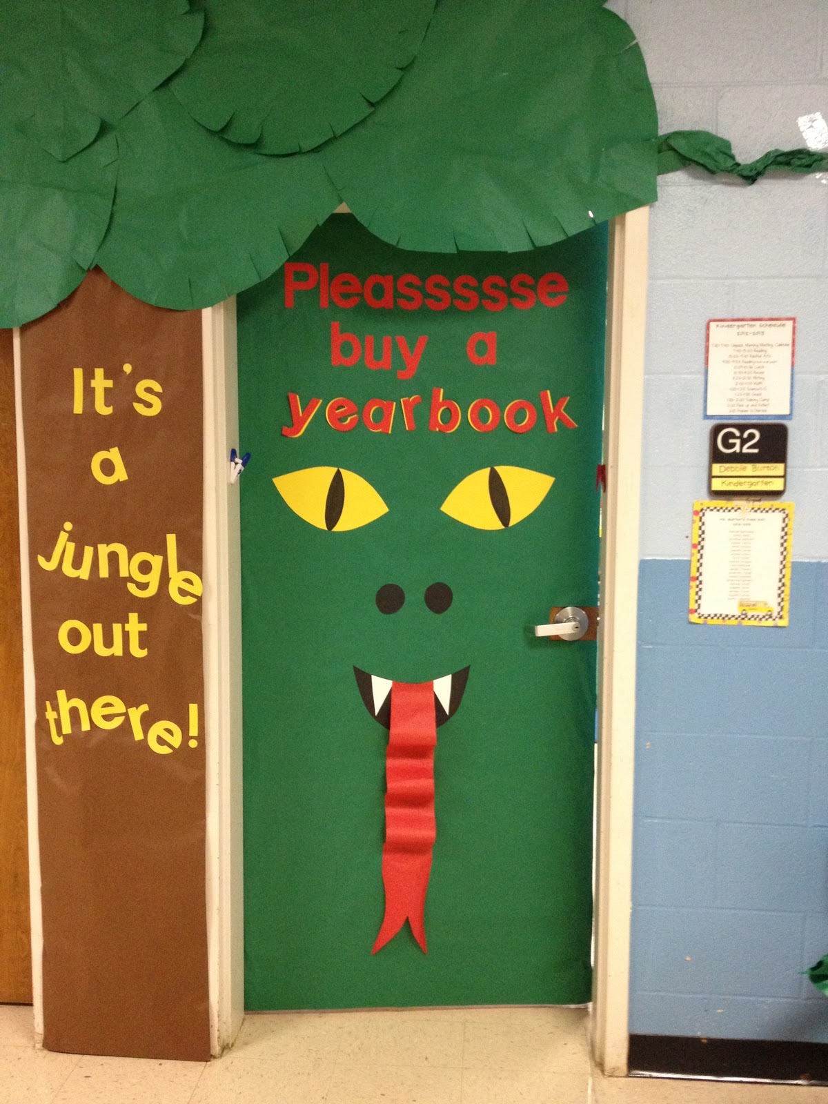 Classroom Door Ideas Jungle ~ K is for kinderrific snowman freebie jungle doors