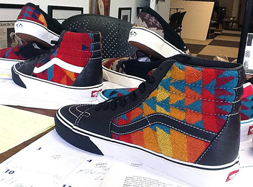 8f107e68c5 ... and Chukka Lows using Pendleton fabrics. Proceeds from the sale of the  sneakers will go towards Nibwaakaawin s fundraising efforts – a Native  non-profit ...