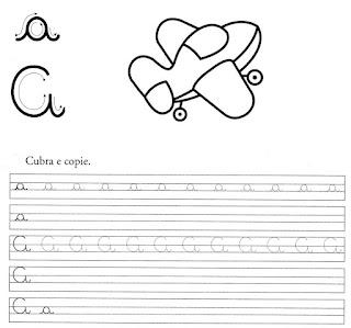 atividade caligrafia letra a