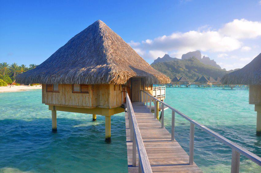 My amazing world a romantic resort fiji tahiti Overwater bungalows fiji