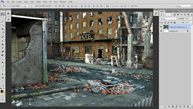 1 Tutorial Photoshop Dramatic Manipulation WAR part 1