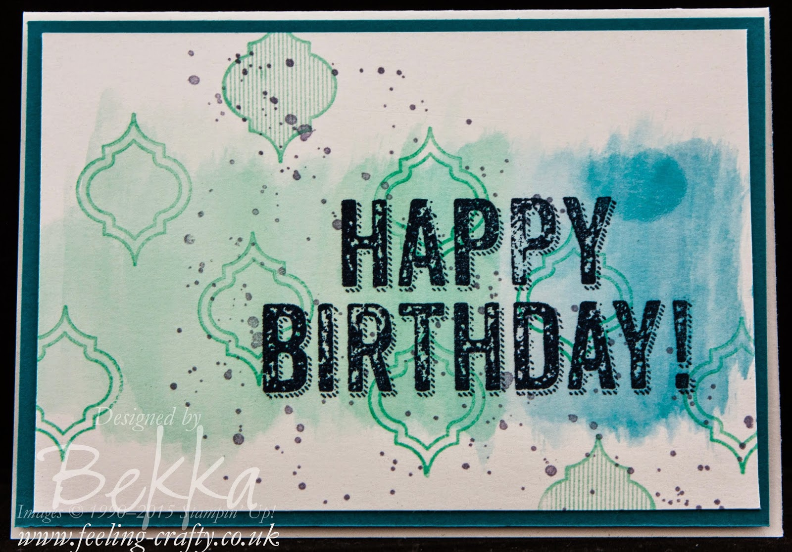 Banish the Birthday Blues with this Blue Birthday Card - check it out here