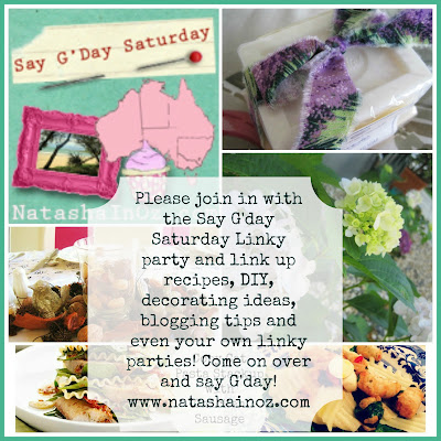 G'Day Linky Party, Say G'Day Saturday, Say G'day Saturday Linky Party, Natasha in Oz, food gif, Yellow party, Pink Party,