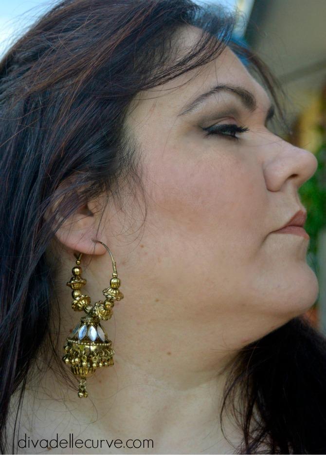 orecchini indiani con jhumki