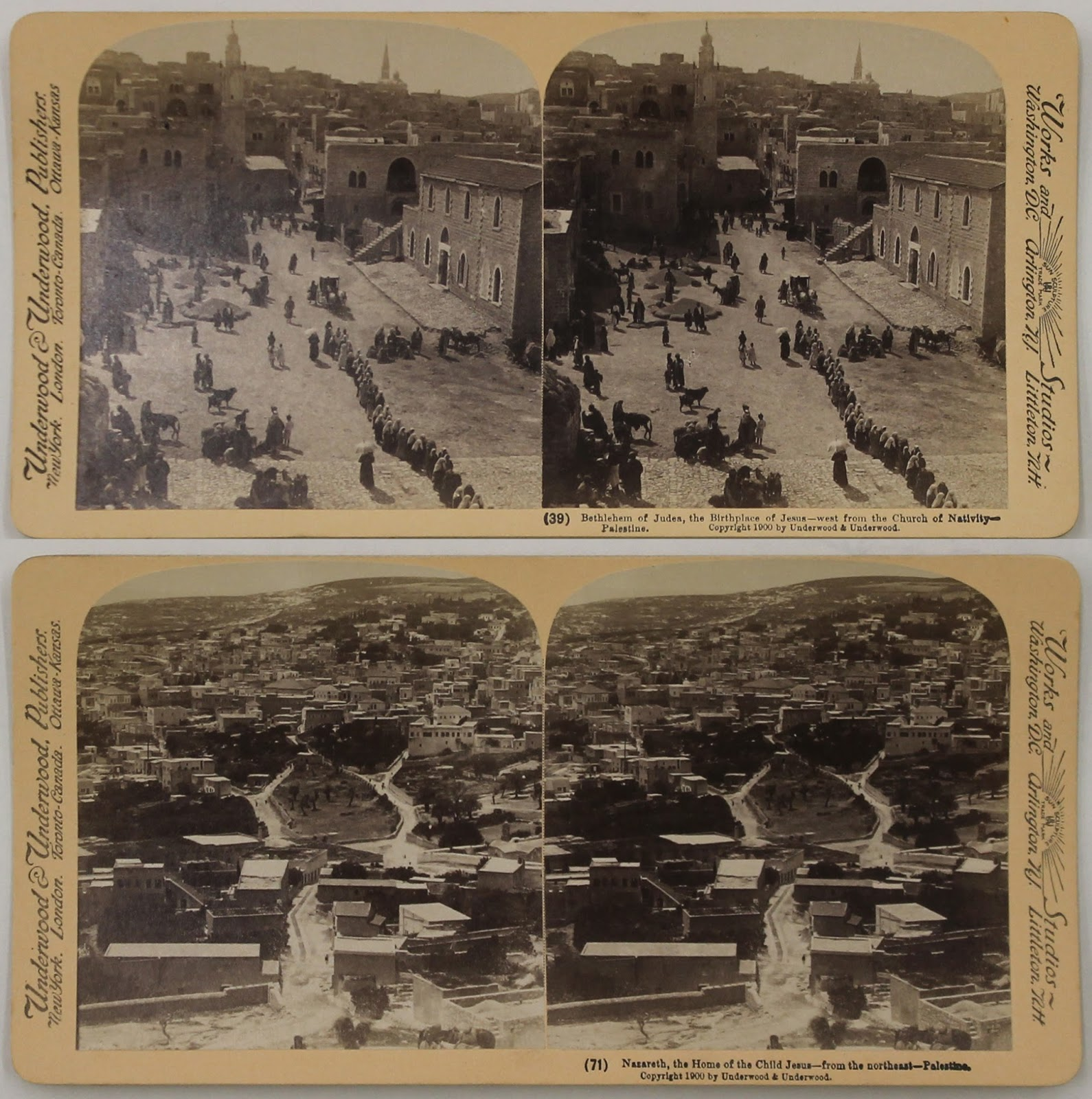 Stereoscopic images of the Holy Land